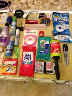 "I have had the pleasure of working a few weddings. But this was by far the nearest to my heart. I am a firm believe in ""The Emergency Kit""! Purse Essentials, Travel Essentials For Women, Camping Essentials, Emergency Kit For Girls, In Case Of Emergency, Emergency Kits, Emergency Supplies, Schul Survival Kits, Survival Prepping"