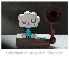 "Fluffy House x Amanda Visell Series - ""Cloudy Day"" / Fluffy House Weather Like Today, Cloudy Day, Designer Toys, Cartoon Styles, American Artists, Amanda, Dolls, Retro, Creative"