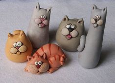 Clay art ideas for kids fimo ideas Polymer Clay Cat, Polymer Clay Kunst, Polymer Clay Figures, Polymer Clay Animals, Polymer Clay Projects, Polymer Clay Creations, Polymer Clay Jewelry, Crea Fimo, Clay Cats