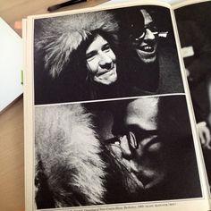 "Janis Joplin & Robert Crumb #rocknroll & #comicbooks ! - from the book ""Janis"" by David Dalton : opening of the New Comix Show in Berkeley, 1969 (©Elihu Blotnick/BBM)"