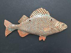 Keramik Fisk Abborre  handgjorda #abborre #fish  #ceramisc #madeceramis