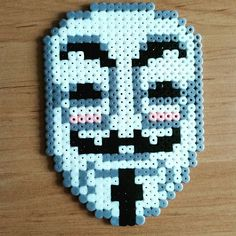 Film. V for Vendetta, perler beads, hama beads, bead sprites, nabbi fuse melty beads by delicious_circle