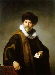 Portrait of Nicolaes Ruts by Rembrandt, Oil on mahogany