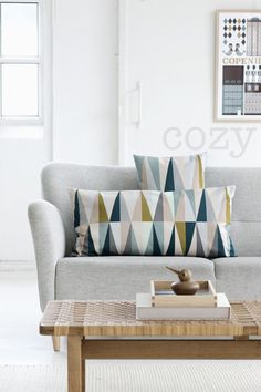 wish list: sofa and pillows. pillows from ferm living