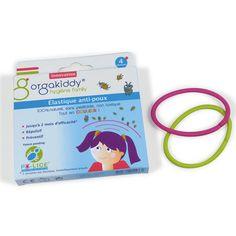 Elastiques anti-poux d'Orgakiddy - boite de 4 elastiques