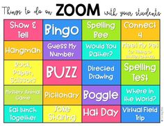 Tell us your clever ideas on ways to use Zoom with your class to just have fun. Home Learning, Learning Resources, Teacher Resources, Learning Spaces, Student Teaching, Teaching Tips, Teaching Technology, Technology Lessons, Blended Learning