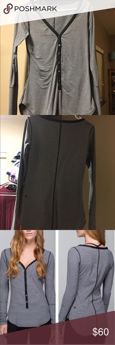 Lululemon ❤ Awesoma Henley Barely worn! Like new condition! lululemon athletica Tops Tees - Long Sleeve