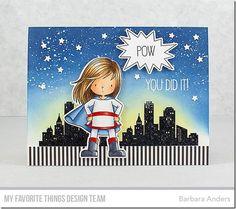 Stamps: BB You're Super Die-namics: BB You're Super, Tag Builder Blueprints 6 Barbara Anders #mftstamps