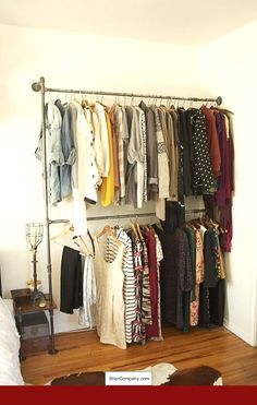 eb9c06002 Cheap Bedroom Decor Ideas - CHECK PIN for Various DIY Bedroom Decorating  Ideas. 55682742   · Clothing RacksPipe ...