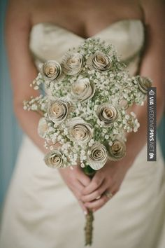 So awesome! - Book themed inspired bouquet | photography by Melissa Stallings…