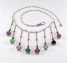 Multicolor Fluorite & Sterling Silver OOAK by TheSilverBear, $140.00