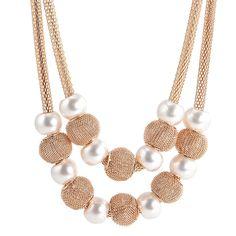 Women Charm Beads Pearls Pendant Statement Bib Chunky Necklace Wedding Jewelry - https://barskydiamonds.com/necklaces/