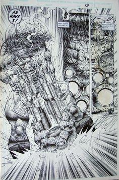 Prophet #7 Page 19 : Stephen Platt, in TomHutson's Prophet Comic Art Gallery Room