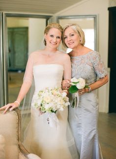 Beautiful bride and mother of the bride portrait | Pippin Hill Wedding From Easton Events + Jen Fariello Photography  Read more - http://www.stylemepretty.com/2013/08/05/pippin-hill-wedding-from-easton-events-jen-fariello-photography/