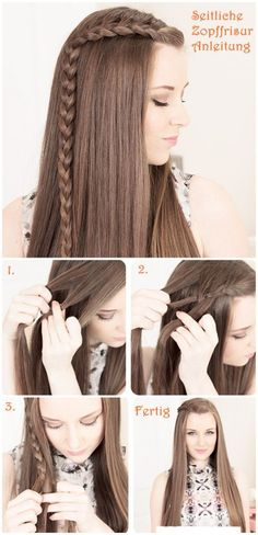 cute side braid ponytail....would wear ist with a small flexi8 hairclip <3