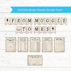 Harry Potter Bridal Shower Printable Bundle Pack by CrissyDesignCo