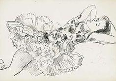 """Matisse (Le Cateau-Cambrésis 1869 - 1954 Cimiez)  """"Danseuse"""" aus """"Dix danseuses""""  (""""Tänzerin"""" aus """"Zehn Tänzerinnen"""")  Lithographie 1927"""