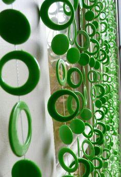Wholesale Dark Lime Green Beaded Curtain