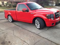 lets see all of those lowered RCSB (regular cab short box) - Ford Forum - Community of Ford Truck Fans Ford Svt, 2014 Ford F150, Lowered Trucks, Lifted Trucks, Lowered F150, Custom Trucks, Custom Cars, Ford Lightning, Lowrider Trucks