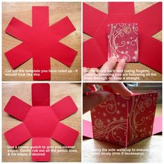 Lisa's Passion 2 Scrap: Hexagonal Exploding Box Tutorial
