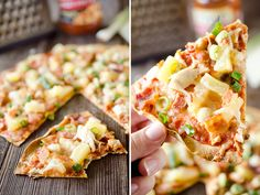 Light Pineapple, Chicken & Bacon Pizza