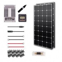 Renogy 300 Watt 12 Volt Solar Premium Kit (Eclipse w/ Commander Charge Controller) Camping Trailer For Sale, Camping First Aid Kit, Camping In The Rain, Camping Trailers, Beach Camping, Solar Power Energy, Advantages Of Solar Energy, Solar Energy System, Solar Panel Kits