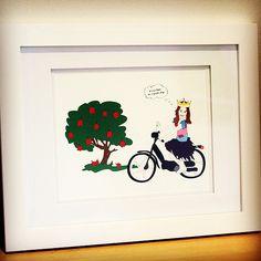 Custom illustrated print for 6 year old Gabriella.
