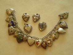Victorian Puffy Heart bracelet...oh be still my heart!!!!  i'd run over small children and lame animals to obtain one of these treasures!!!!!