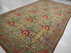Buy online, view images and see past prices for ARTS & CRAFTS STYLE ORIENTAL CARPET, overall styli. Invaluable is the world's largest marketplace for art, antiques, and collectibles. Craftsman Rugs, Craftsman Cottage, Craftsman Style, Arts And Crafts House, Home Crafts, Car Crafts, Oriental Carpet, Art And Craft Design, Trends