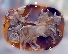 Sardonyx cameo of Julia Domma,Roman,193-217 CE British Museum
