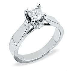 1 CT. Princess-Cut Diamond Solitaire Engagement Ring