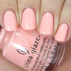 "China Glaze Pack Lightly | Spring 2015 Road Trip Collection | Peachy Polish Pack Lightly"" is a warm-toned light peachy-pink crelly with that pretty coppery shimmer. 2 coats."