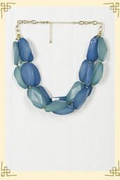Like a Rolling Stone Necklace in Blue