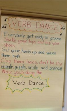 I'm a big fan of interactive lessons.  I created this song/lesson that allows students to learn about verbs while they're verb-ing it out through dance & song.