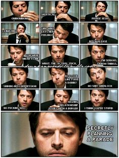 Misha has so many thoughts and feelings. Lol