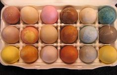 Some of my naturally dyed eggs with instructions on my blog.