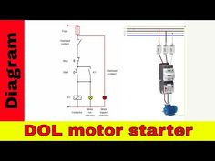 how to wire a contactor - direct on line motor starter diagram  electrical  wiringcircuitsvideo tutorialsstarters