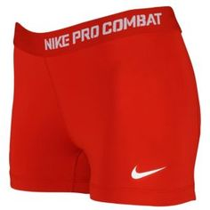 """I have the perfect top to wear with these!  -Nike Pro Core 2.5"""" Compression Short - Women's - For All Sports - Clothing - Sport Red/White"""