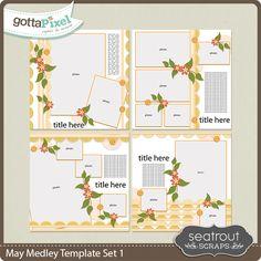 May Medley Template Set 1 :: Templates :: Packs :: Gotta Pixel Digital Scrapbook Store by Seatrout Scraps $4.00
