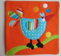 https://flic.kr/p/8DGyNw | Bird Mug Rug #6 | Chicken Little....