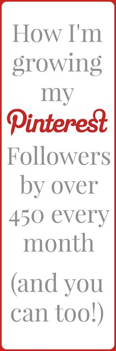 I grew my Pinterest acount from 250 to over 2000 followers in less than four months! I'm still adding 400 - 500 new followers every month. Find out how I did it and how you can too!