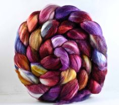 TLS REIGN 75/25 Organic polwarth/mulberry by pigeonroofstudios