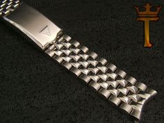 Vintage Watch Band Jb Champion Stainless Steel Bullet Link