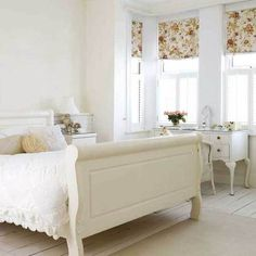 I love white bedrooms...oh I see a pattern for me...