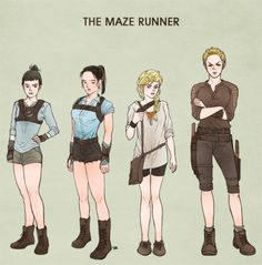 the maze runner sketch - Group B as Thomas, Minho, Newt, and Gally Newt Maze Runner, Maze Runner Movie, Maze Runner Series, Thomas Brodie Sangster, Maze Runner Characters, Runners Outfit, The Scorch Trials, Runner Girl, Fandom Outfits