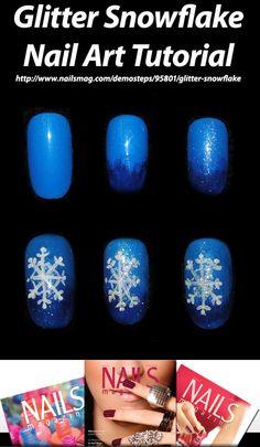 Glitter Snowflake Nail Art Tutorial - NAILS Magazine - nailsmag.com