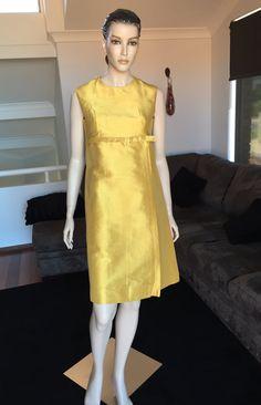 "Dress and Coat Ensemble Gold Thai Silk Jackie ""O"" 50s 60s by PreciousIdentity on Etsy"