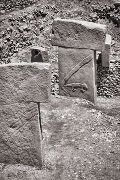 Stone Age monoliths at Göbekli Tepe, roughly years old. Old Stone, Stone Age, Archaeology, Civilization, Photography, Image, Temple, Lost, Photograph