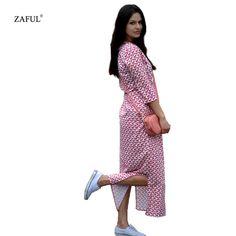 ZAFUL Brand 2016 New Arrival Fashion Half Sleeve Waisted Dress Woman Casual Printing And Split Design Shirt Dresses - http://fashionfromchina.net/?product=zaful-brand-2016-new-arrival-fashion-half-sleeve-waisted-dress-woman-casual-printing-and-split-design-shirt-dresses