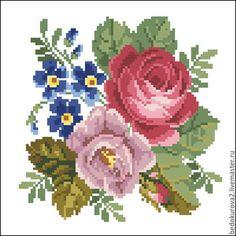 Ретро роза вышивка